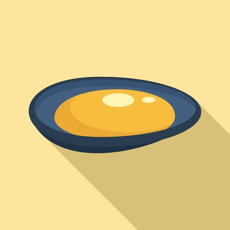 Mussels icon, flat style