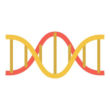 Dna structure icon, flat style