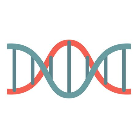 Red blue dna icon, flat style Çizim