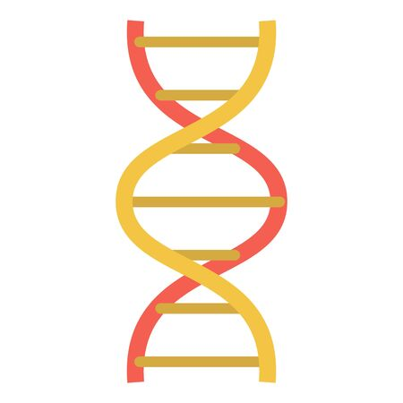 Lab dna structure icon, flat style