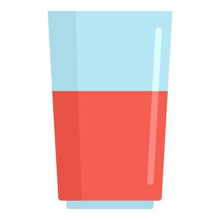 Blood flask icon, flat style Çizim