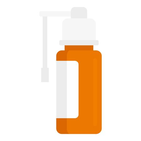 Medical air spray icon, flat style