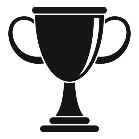 Biathlon cup icon, simple style Çizim