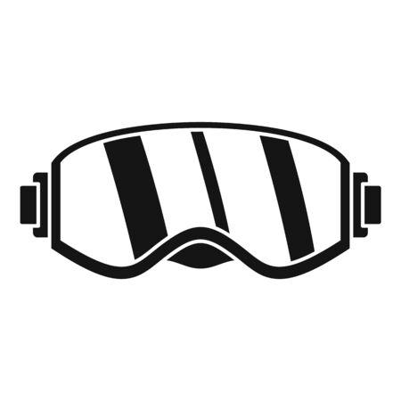 Ski glasses icon, simple style Çizim