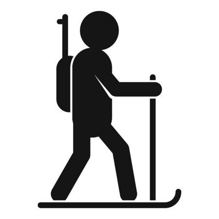 Biathlon running icon, simple style Archivio Fotografico - 128422517
