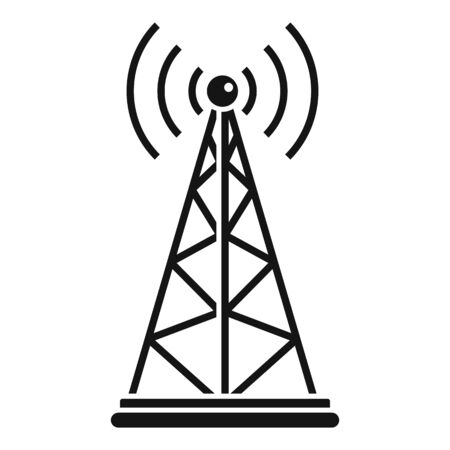 Gsm tower icon, simple style