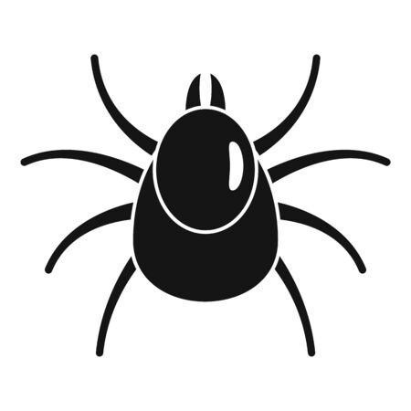 Insect mite icon, simple style