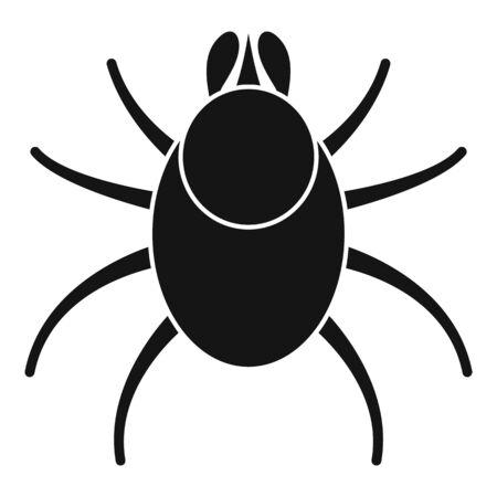 Animal mite icon, simple style Illustration