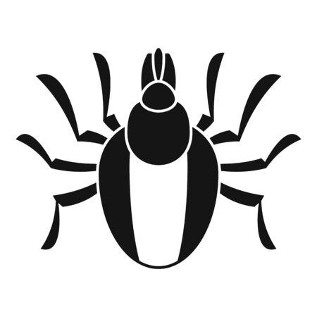 Parasite mite icon, simple style