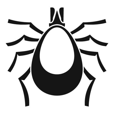 Allergy mite icon, simple style