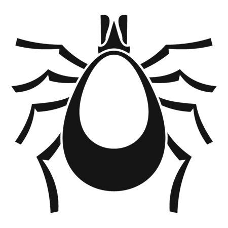 Allergy mite icon, simple style Illustration