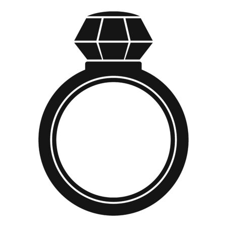 Brilliant ring icon, simple style