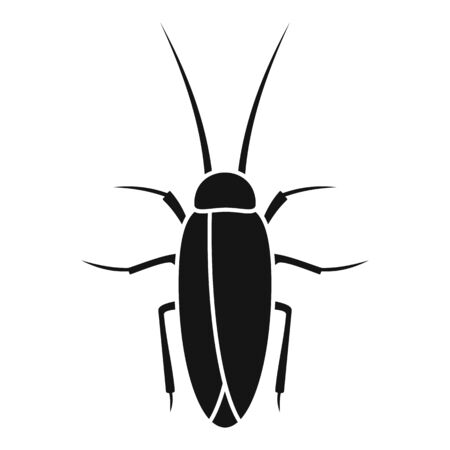 Cockroach insect icon, simple style