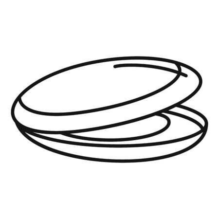 Sea mussels icon, outline style