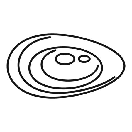 Lunch mussels icon, outline style Vektorové ilustrace