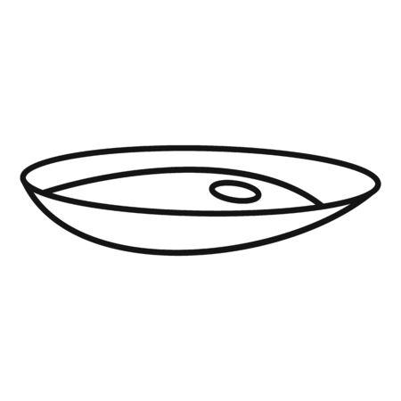 Food mussels icon, outline style Ilustração