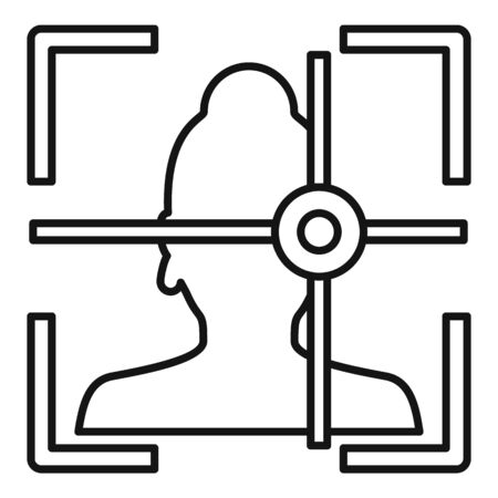 Woman eye detection icon, outline style