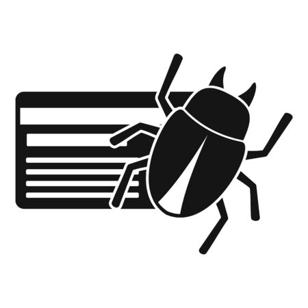 Credit card bug icon, simple style Stock Illustratie