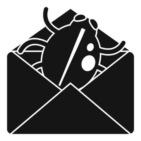 Mail bug icon, simple style