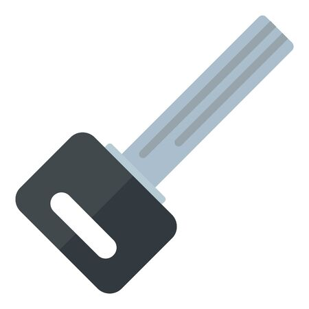 Door house key icon, flat style