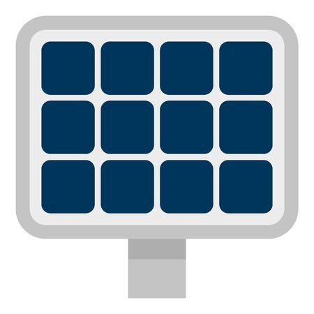 Solar panel icon, flat style Ilustração
