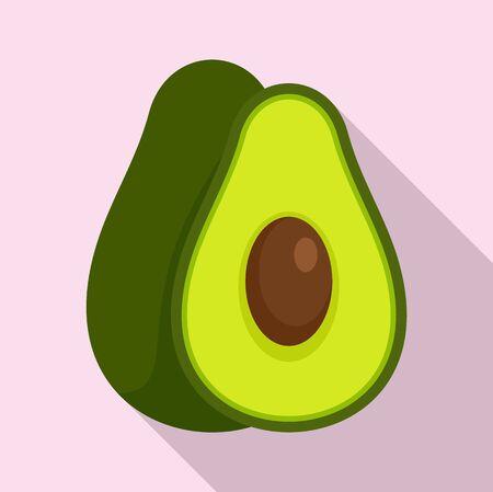 Avocado fruit icon, flat style Illustration