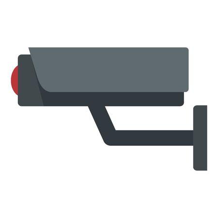 Security camera icon, flat style Stock Illustratie