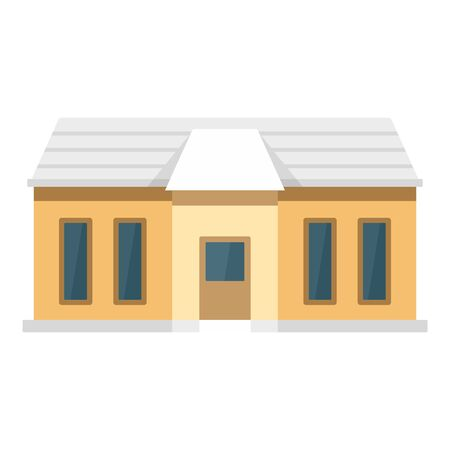 Small smart home icon, flat style Stock Illustratie