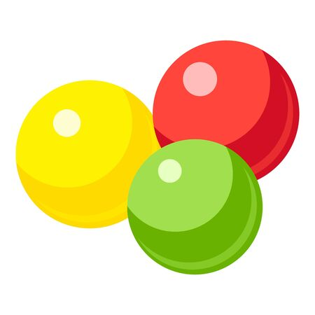 Colorful gumballs icon, cartoon style  イラスト・ベクター素材