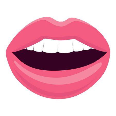 Sexy lips icon, cartoon style
