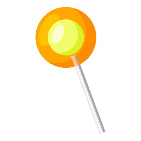 Orange lollipop icon, cartoon style  イラスト・ベクター素材