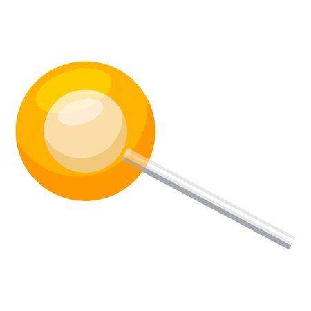 Orange lollipop icon, cartoon style Stock Illustratie