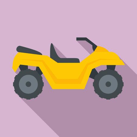 Atv quad bike icon, flat style Illustration