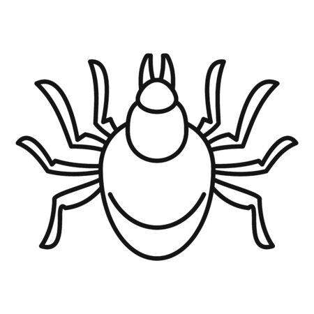 Mite icon, outline style Illustration