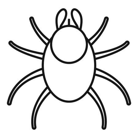 Dog mite icon, outline style Illustration