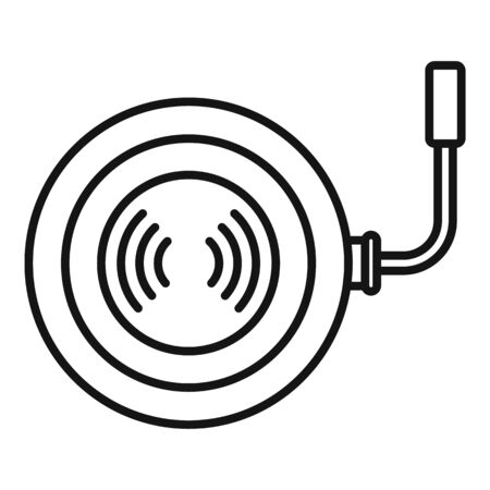 Phone wireless charger icon, outline style