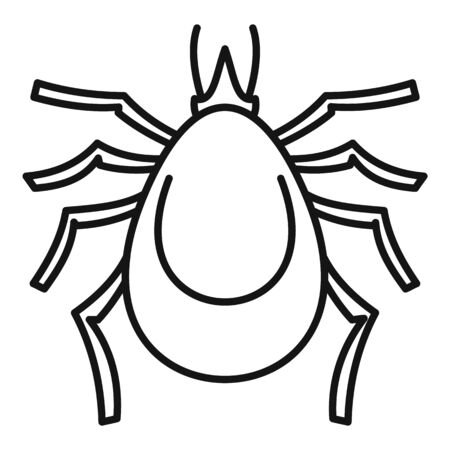 Allergy mite icon, outline style
