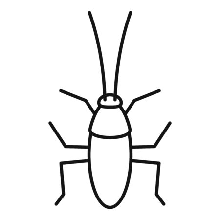 Cockroach icon, outline style