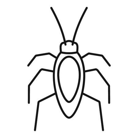 Cockroach bug icon, outline style 일러스트