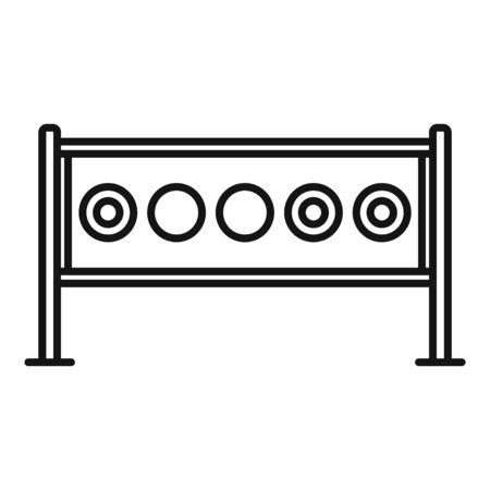 Biathlon target icon, outline style