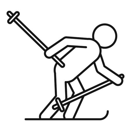 Biathlon man icon, outline style Archivio Fotografico - 128983304