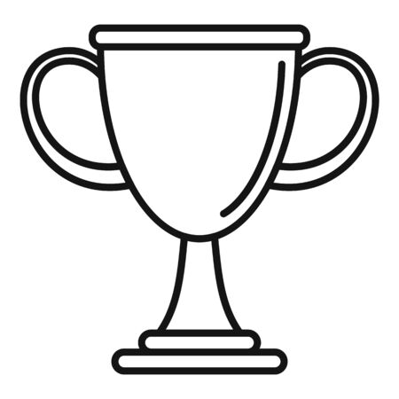 Biathlon cup icon, outline style Illustration