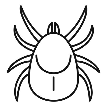 Parasite mite icon, outline style Illustration