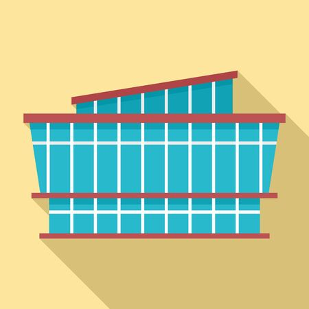 Mall icon. Flat illustration of mall vector icon for web design