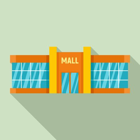 Retail mall icon. Flat illustration of retail mall vector icon for web design