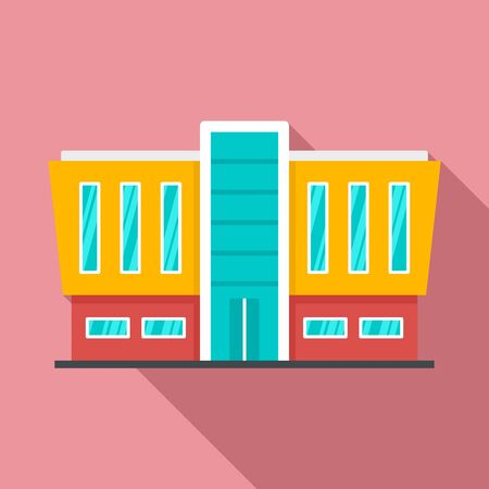 Mall building icon. Flat illustration of mall building vector icon for web design Ilustrace