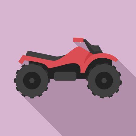 Ride quad bike icon. Flat illustration of ride quad bike vector icon for web design