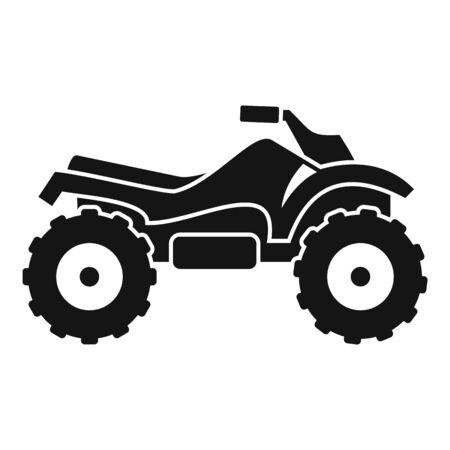 Ride quad bike icon, simple style