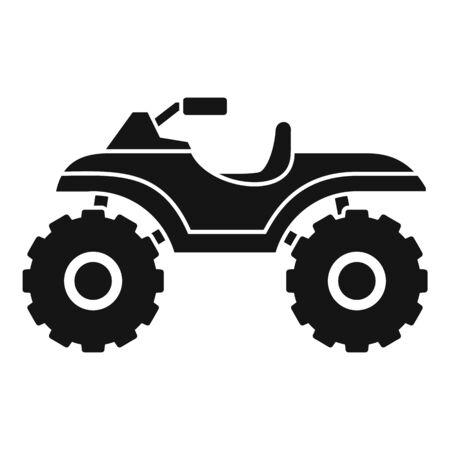 Hunter quad bike icon, simple style Illusztráció