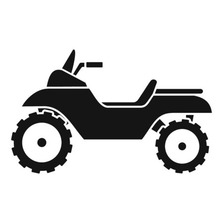 Racing quad bike icon, simple style
